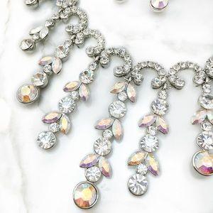 Jewelry - Swarovski Clear, AB Crystal Statement Necklace Set